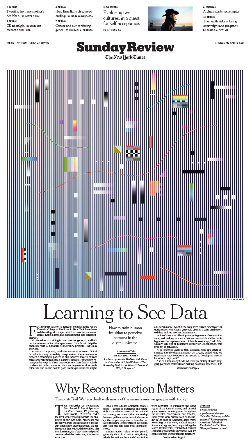 Sunday Review Cover: Learning To See Data