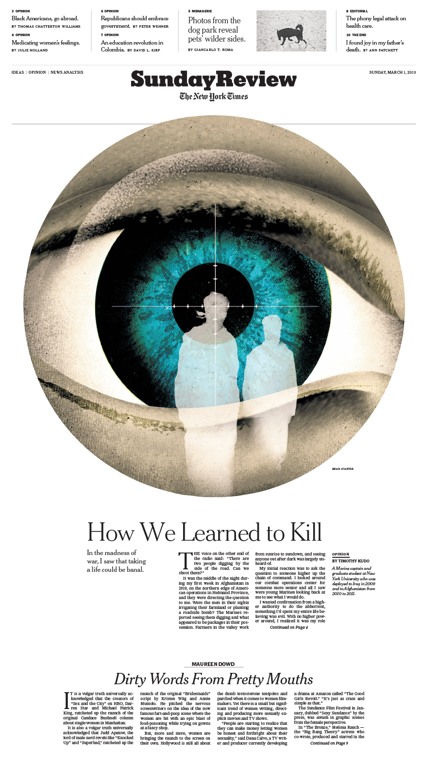 Sunday Review Cover: How We Learned To Kill