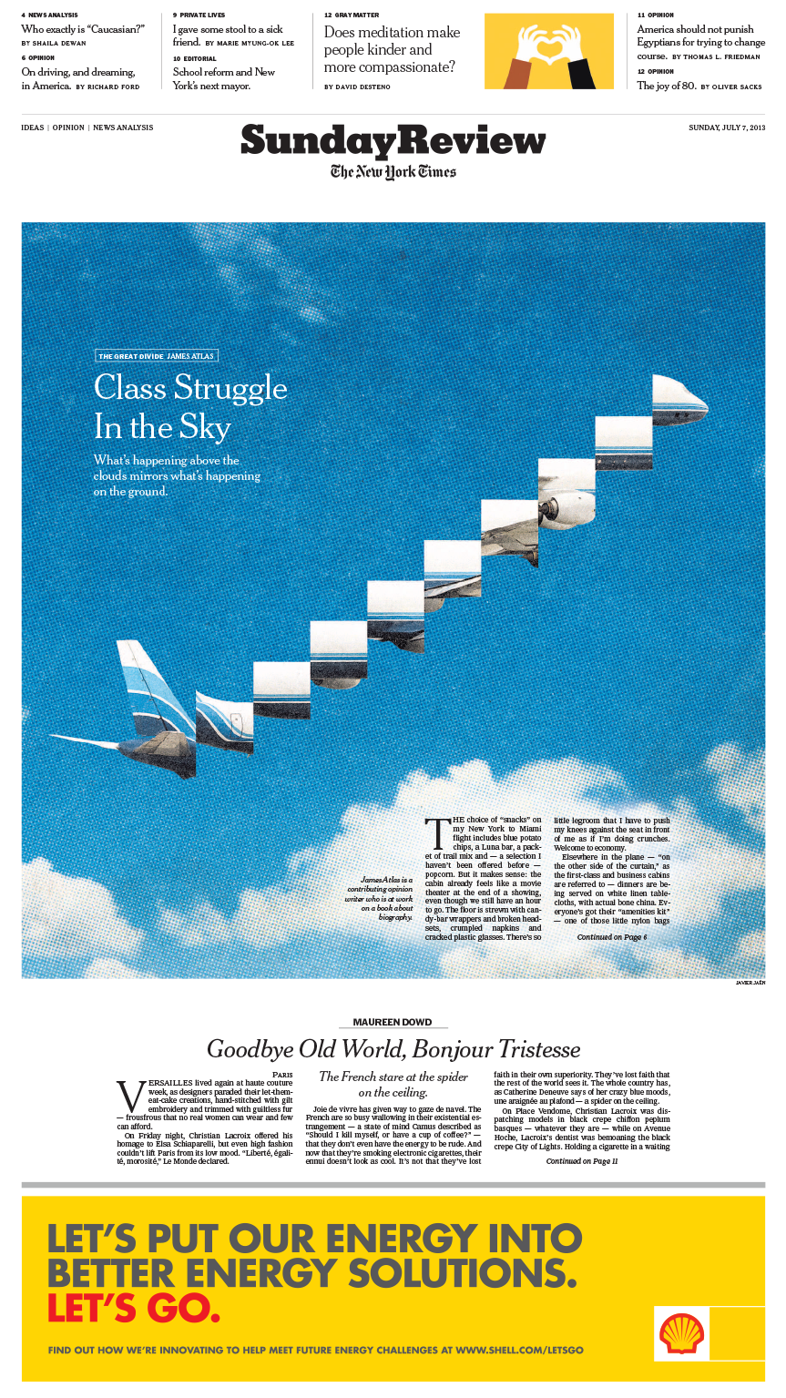 Sunday Review Cover: Class Struggle in the Sky